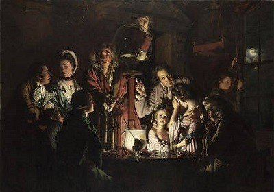 An Experiment on a Bird in an Air Pump by Joseph Wright.