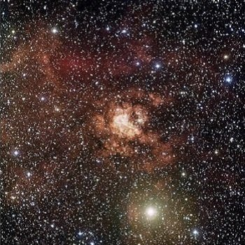 Photograph of stellar nursery Gum 29