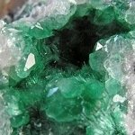 Photograph of malachite.