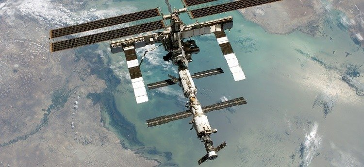 Photograph of the International Space Station.