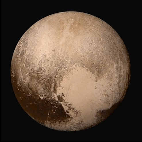 Photograph of Pluto.