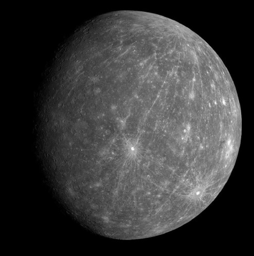 Photograph of Mercury.