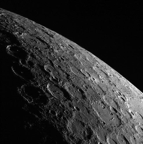 Close up photograph of Mercury.