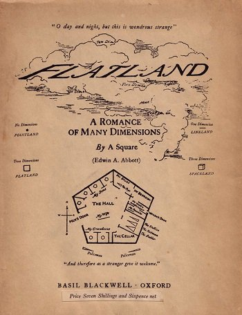 Cover of the 1953 edition of Flatland by Edwin Abbott Abbott.