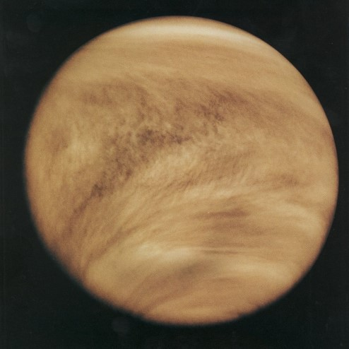 Photograph of Venus above the clouds.