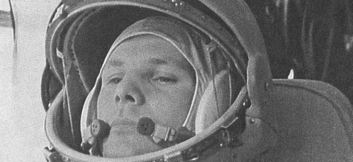 Photograph of Yuri Gagarin.